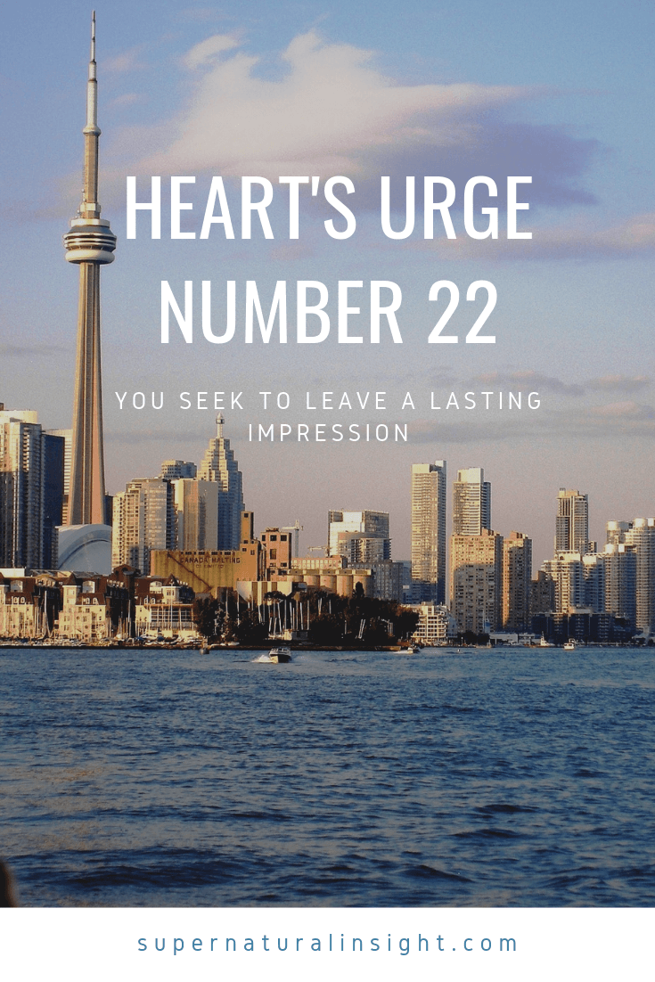 Heart's Urge Number 22